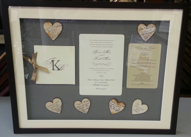 Frame Your Wedding Invitation Mirror Marialonghi