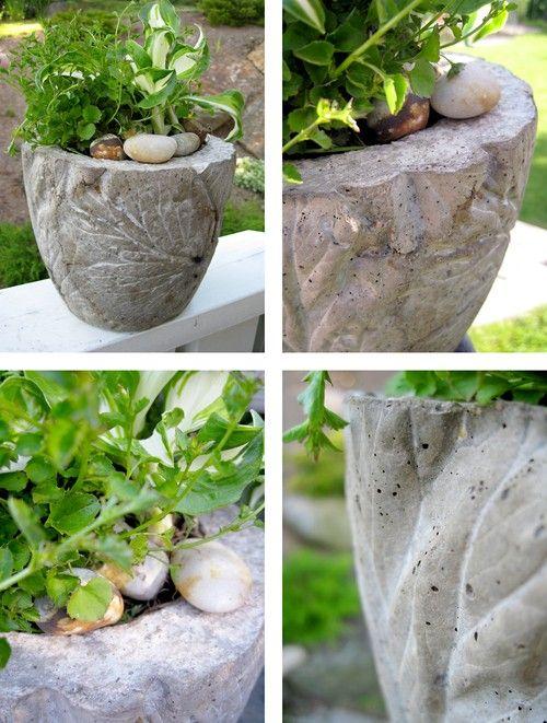 Flowerpot in concrete