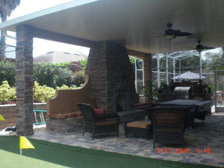 39 tropical backyard pool kitchen patio ideas 39 design - Zelmar kitchen designs orlando fl ...