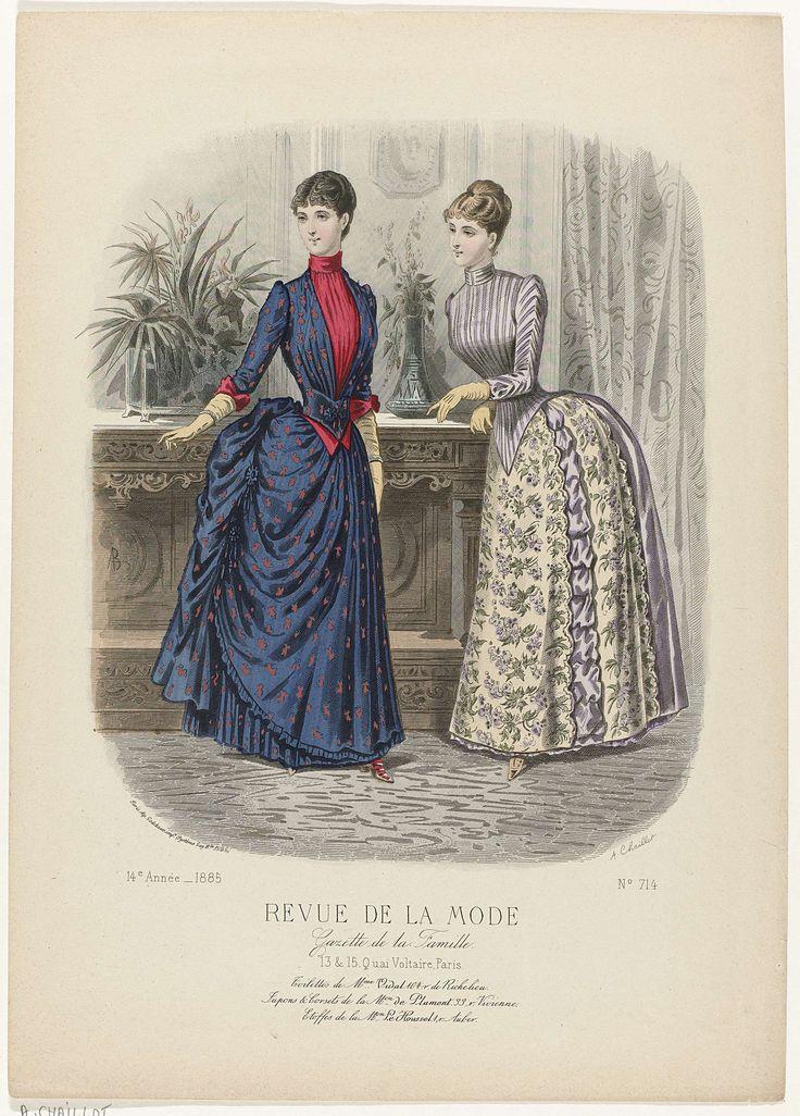 Revue de la Mode, Gazette de la Famille, dimanche 6 septembre 1885, 14e Année, No. 714: Toilettes de Mme Vidal..., A. Chaillot, Auguste Godchaux