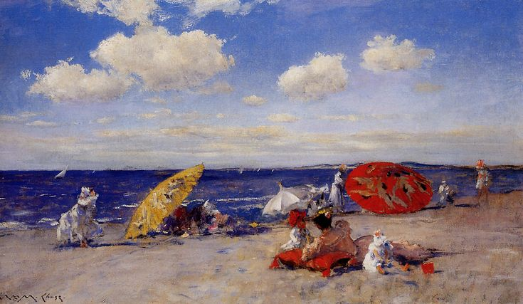 "William Merritt Chase, ""At the Seaside"" (1892)"