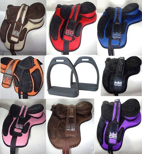 Lower Priced Fabulous Synthetic Treeless Saddle Stirrups Straps Polymer Stirrup | Sporting Goods, Outdoor Sports, Equestrian | eBay!