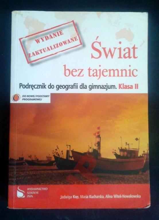 Podręcznik Świat bez tajemnic gimnazjum 2