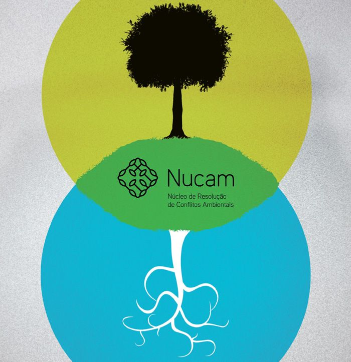 Folder do Núcleo de Resolução de Conflitos Ambientais (Nucam) - Diretoria de Publicidade Institucional do Ministério Público de Minas Gerais