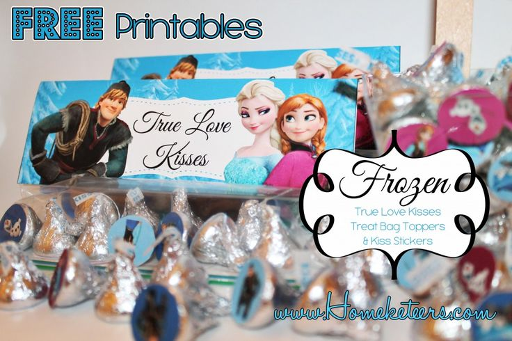 Frozen Party free Printables | Free Frozen Valentine's Day Printables #Frozen #TreatBagToppers # ...