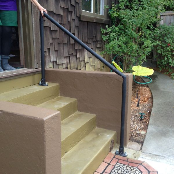 Outdoor Stair Railing Kit Step