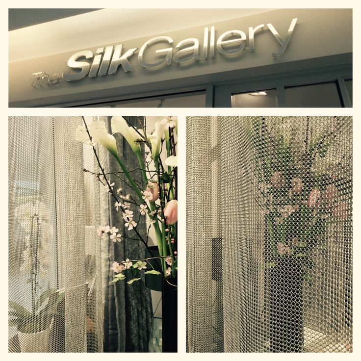 Wow!! How gorgeous is this chainmail curtain @TheSilkGallery #LDW16 @DesignCentreCH #Stunning! #Chainmail #IWantOne