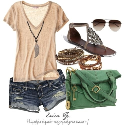 I LOVE the handbag....no so much the other items.Summer Fashion, Summeroutfit, Summer Day, Summer Looks, Casual Summer, Summer Style, Cute Summer Outfit, Summer Outfits, Summer Clothing