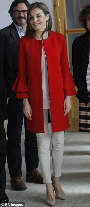 Queen Letizia today...