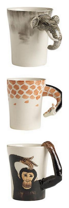 wilde animal mugs//I HAVE NEVER WANTED SOMETHING SO BADLY IN MY LIFE... WELL TODAY... WELL, RIGHT AT THIS MOMENT!!! <3