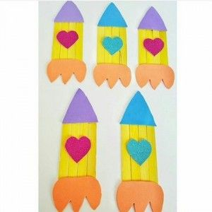popsicle stick rocket craft