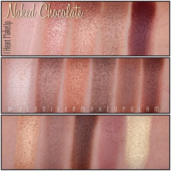 Image result for makeup revolution naked chocolate swatches