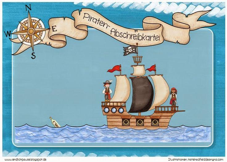 abschreibkartei piraten pirat piraten deutsch und deutsch unterricht. Black Bedroom Furniture Sets. Home Design Ideas