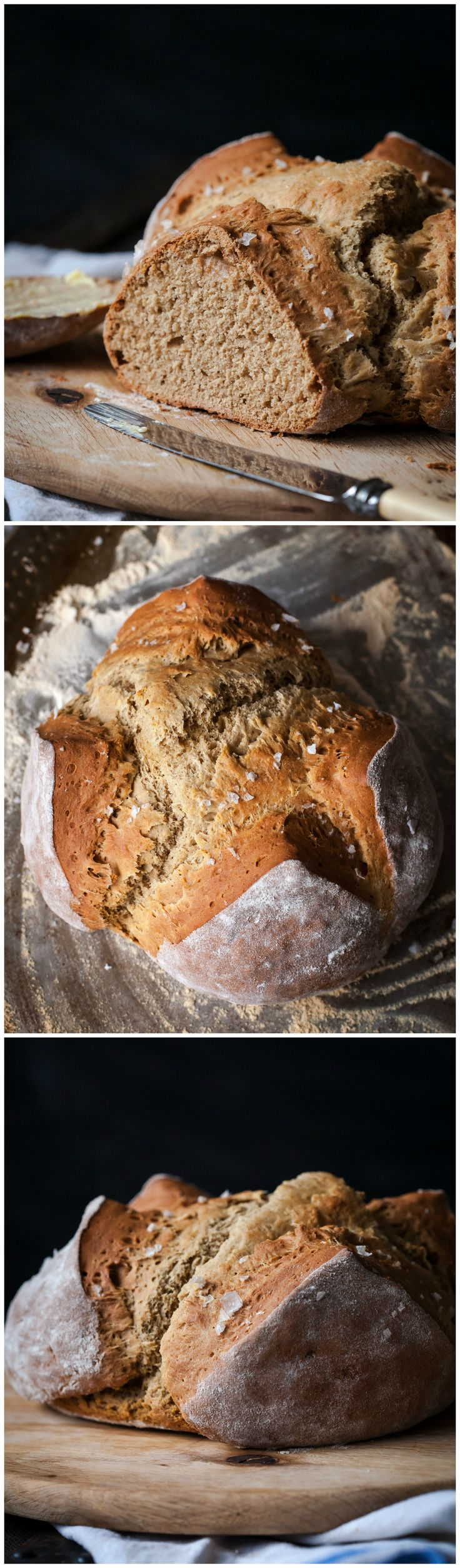 Honey and Buckwheat Soda Bread with Sea Salt. The world's easiest loaf that is both soft and crumbly!