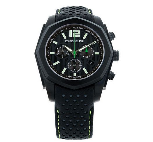 Michael Hill for Father's Day - Men's 2013 New Zealand PGA Chronograph Golf Watch in Black Stainless Steel & Resin, RRP $849, now $449