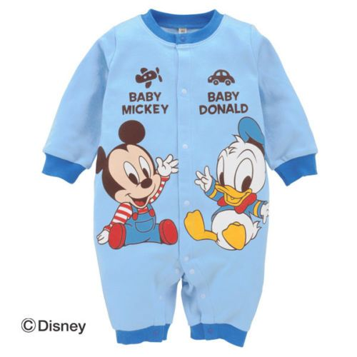 Donald Daisy Minnie Mickey Babygrow Sleppsuit Romper Long Sleeve 3 6 9 12 next d | eBay