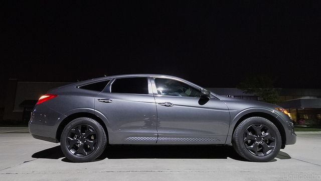 Blacked out the rims on my #Honda #Crosstour tonight. # ...