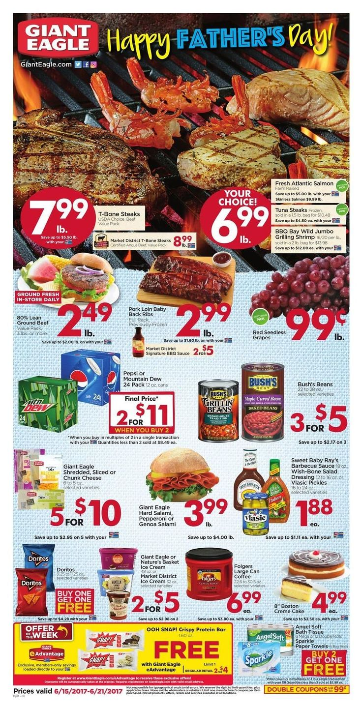 Giant Eagle Weekly Ad Circular June 15 - 21 United States #grocery #food #GiantEagle