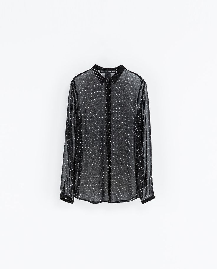 ZARA - WOMAN - POLKA DOT SHEER BLOUSE