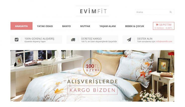 Evimfit Tekstil E-Ticaret Sitesi - Silüet Tanıtım Alışveriş Sitesi Web Tasarımı