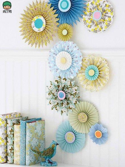 DIY handmade paper flowers crafts wedding decoration