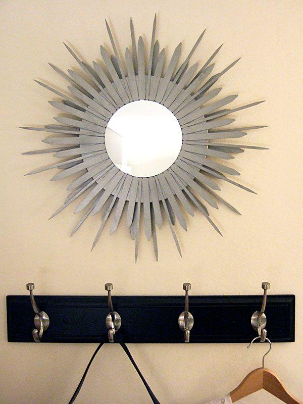 DIY Sunburst MirrorDiy Crafts, Gift Ideas, Sunburst Mirrors, Diy Gift, Diy Starburst, Diy Mirrors, Starburst Mirrors, Diycrafts, Popsicles Sticks
