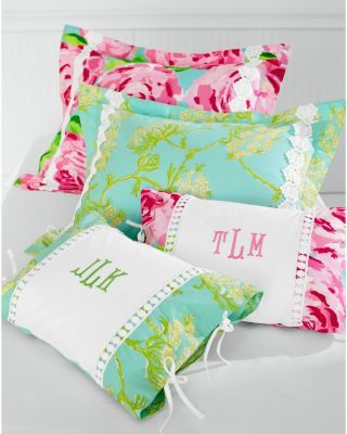 Lilly Pulitzer Sister Florals Sham...got the matching sham and personalized lumbar.