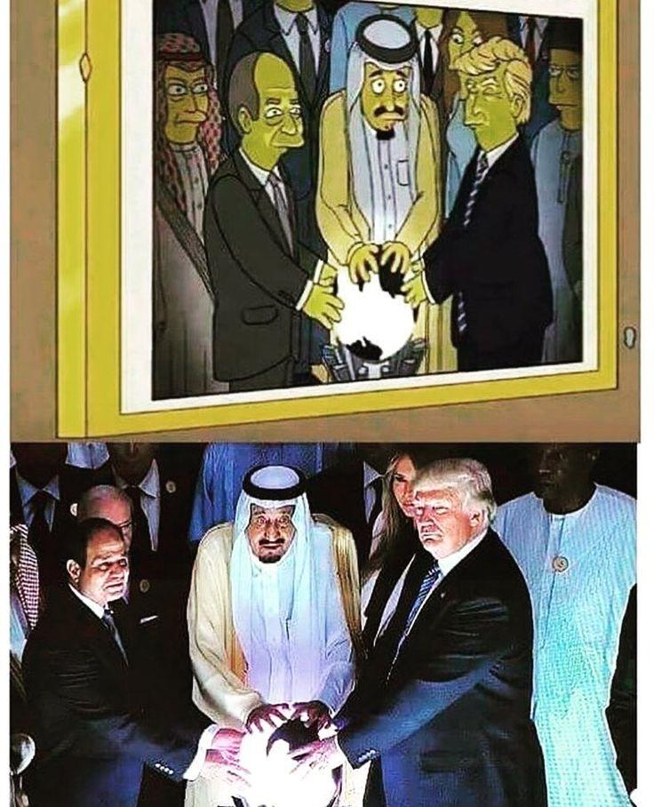 Et encore une prédiction par les Simpsons...  #simpsons #trump #saudiarabia #predictions #creepy #elite #fuckthesystem