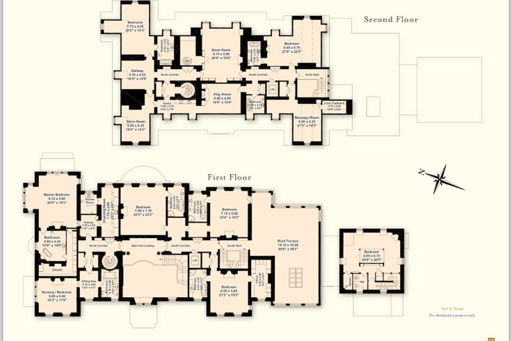 First floor and second floor at eilean aigas inverness for Scottish castle house plans
