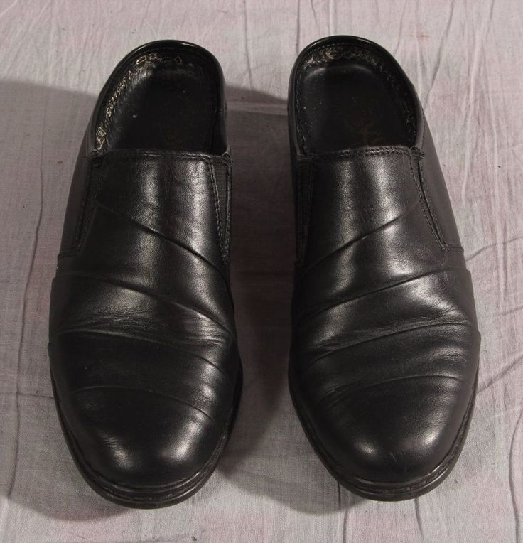 Women's Shoes Rieker Black Size 6.5 M Leather Clogs Shoes Med #Rieker #Clogs