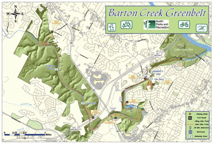barton creek greenbelt map maps and map making pinterest