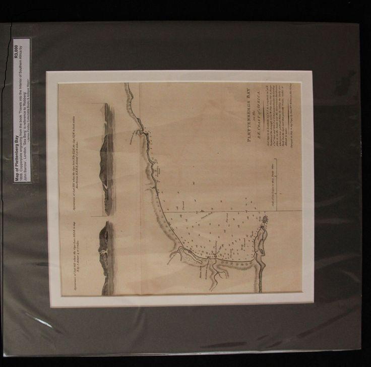 Map of Plettenberg Bay, South Africa by John Barrow 1806