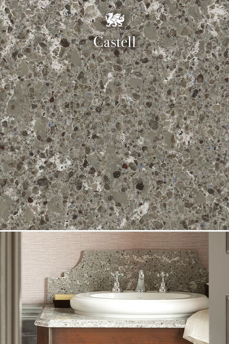 Cambria clyde kitchen and bathroom countertop color - The Color Of Mist And Drizzle Castell S Gentle Grays With Specks Of Blue And White Recall The Agstones That Anchor The Guesthouse In Wales For Which It S
