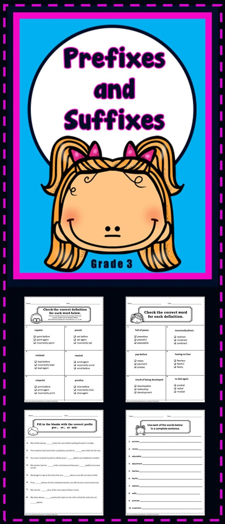 Best 25 prefixes and suffixes ideas on pinterest roots part 3 18 no prep printables prefixes and suffixes use to check for understanding quick robcynllc Images