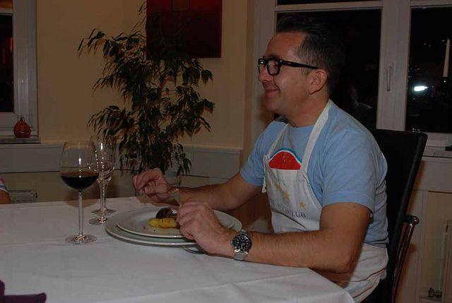 """Kochkurs """"Wilde-Exoten"""" Rentier mit Kartoffel-Sellerie-Stampf, dazu ein Glas Rotwein, einfach köstlich."""