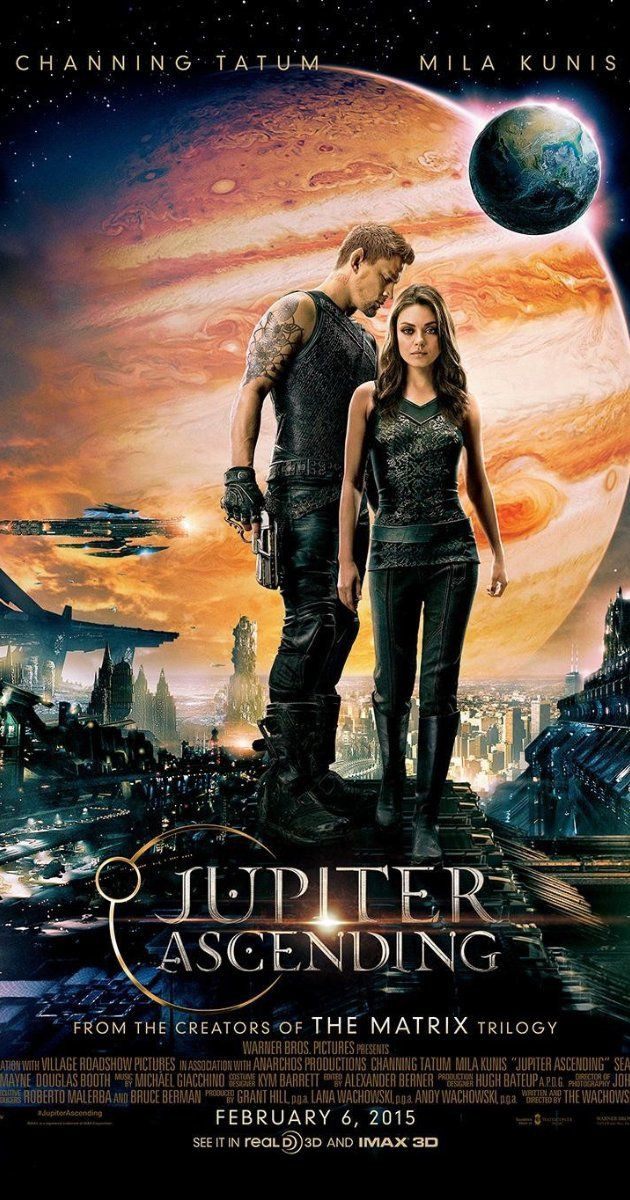 """Jupiter Ascending (2015) Poster - """"Basic, somewhat derivative scifi premise and plot, serviceable performances, but the visuals, cinematography, special effects and fast-paced, action-packed set-pieces make this a fun and entertaining ride!"""""""