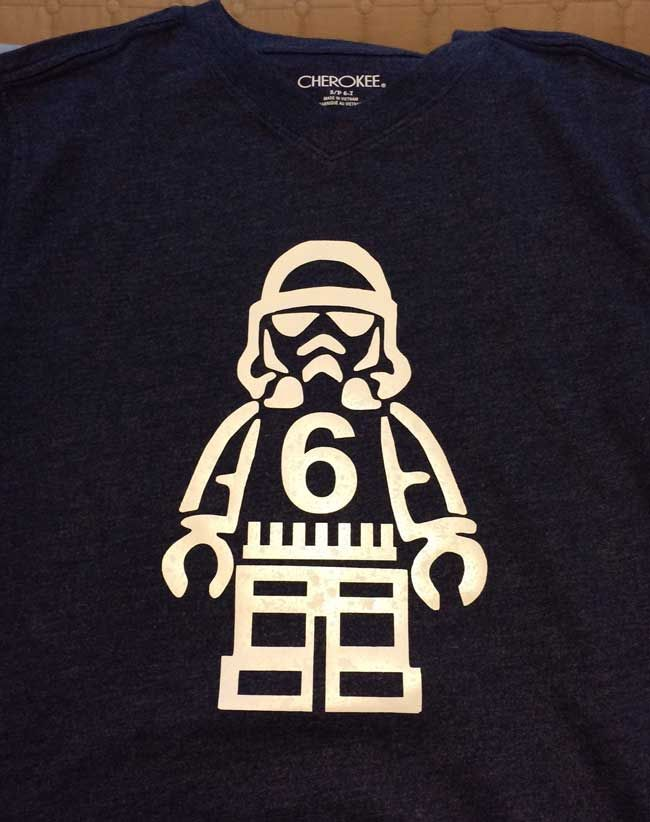 lego star wars stormtrooper birthday shirt