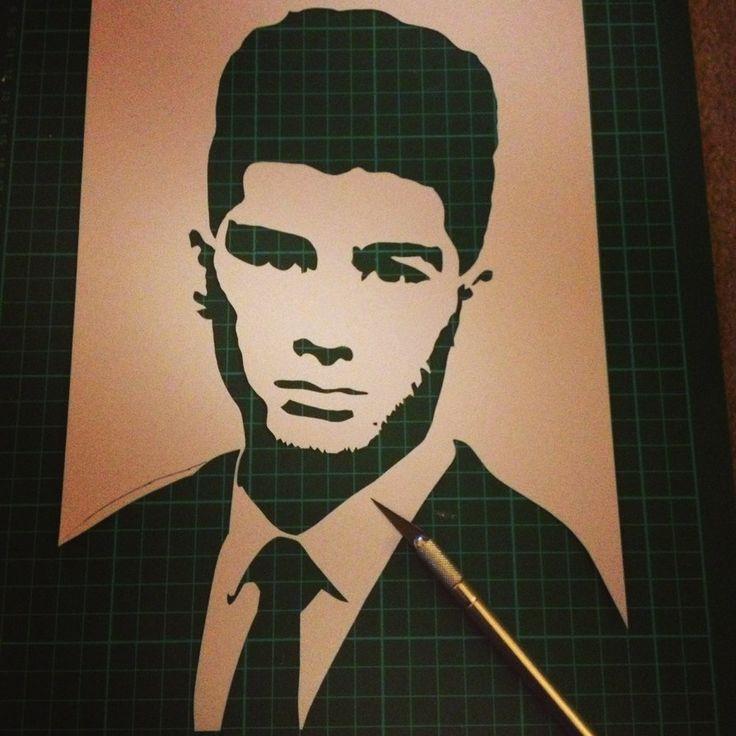 Zayne Malik Single Layer Stencil by Ramart #OneDirection #1d #Directioners #Stencil