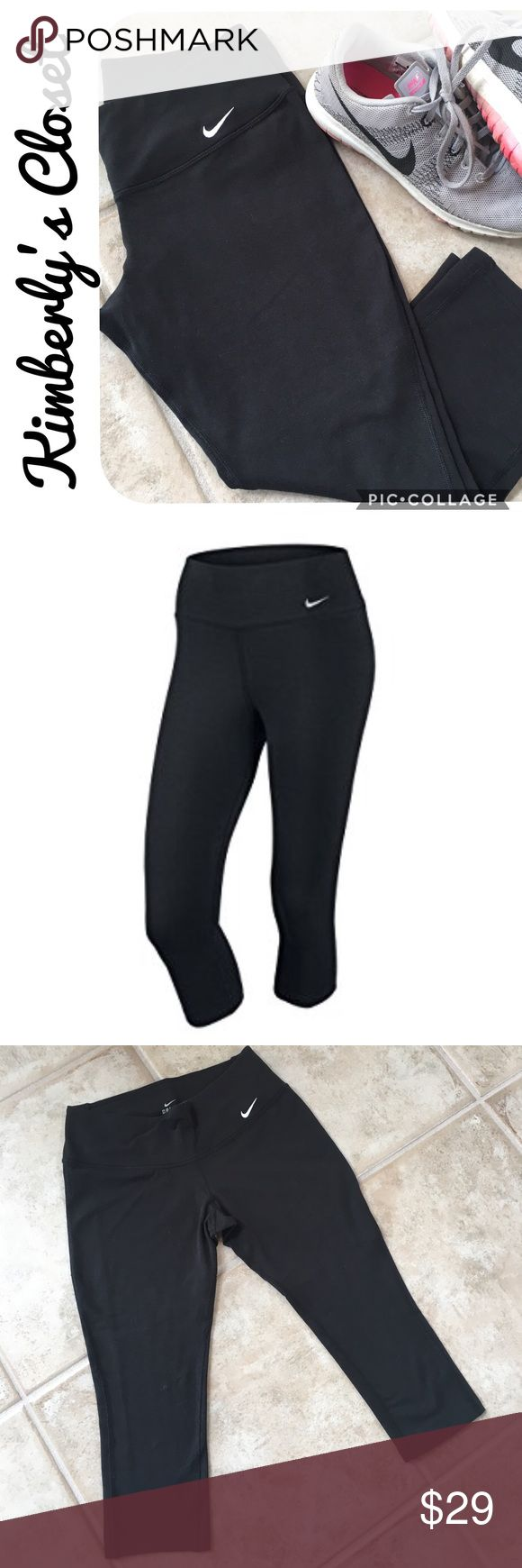 "🛍NIKE Dri-Fit Capri Leggings🛍 The Nike Dri-Fit Capri Tights are designed with great fit and comfort in mind. Lightweight and breathable, these women's training capris were designed with the environment in mind. They feature sweat-wicking Dri-FIT fabric to help keep you dry and comfortable. While Spandex in the fabric enhances freedom of movement, and it's also brushed for a soft feel.  Inseam measures 18"". Gently used - very good condition. Nike Pants"