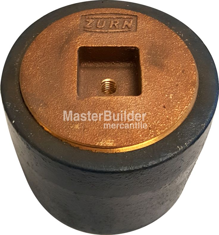 Zurn z floor cleanout ferrule with countersunk plug