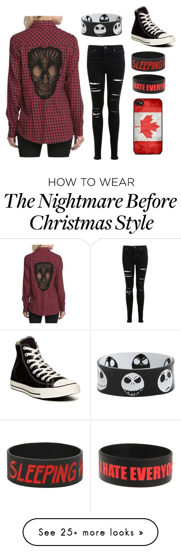 """Red outfit #1 (D please)"" by im-punk-not-dead on Polyvore featuring Miss Selfridge and Converse"