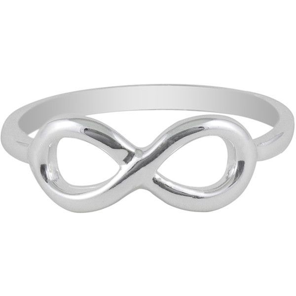 Jewel Exclusive Sterling Silver Infinity Ring-06 found on Polyvore