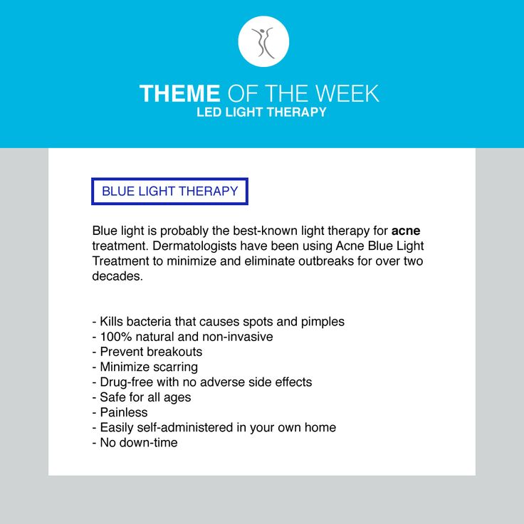 The theme of the week is LED Light Therapy as part of our TOOLS month. Blue light therapy is fantastic for ACNE. #dermacaredirect #LED