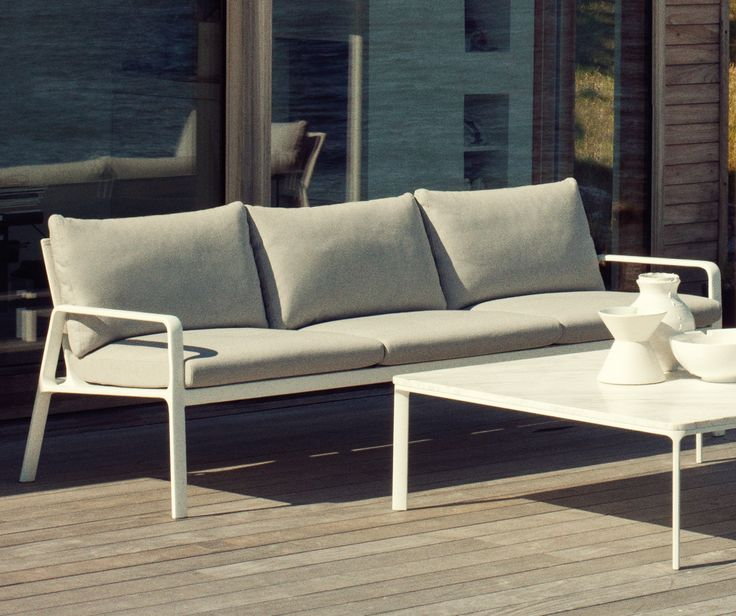 Park Life 3-seater #Sofa #karkula  Park Life is a complete family of furniture for outdoors, whose clean cut profile is adaptable to a wide range of different situations.