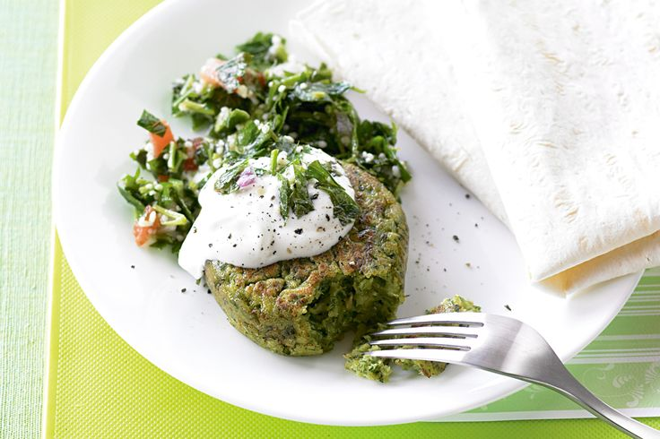 Falafels. This traditional Middle Eastern favourite is a versatile vegetarian dish that even the non-vego's will love. I followed the advice of others who had made falafels and added extra cumin, ground corriander and garlic.
