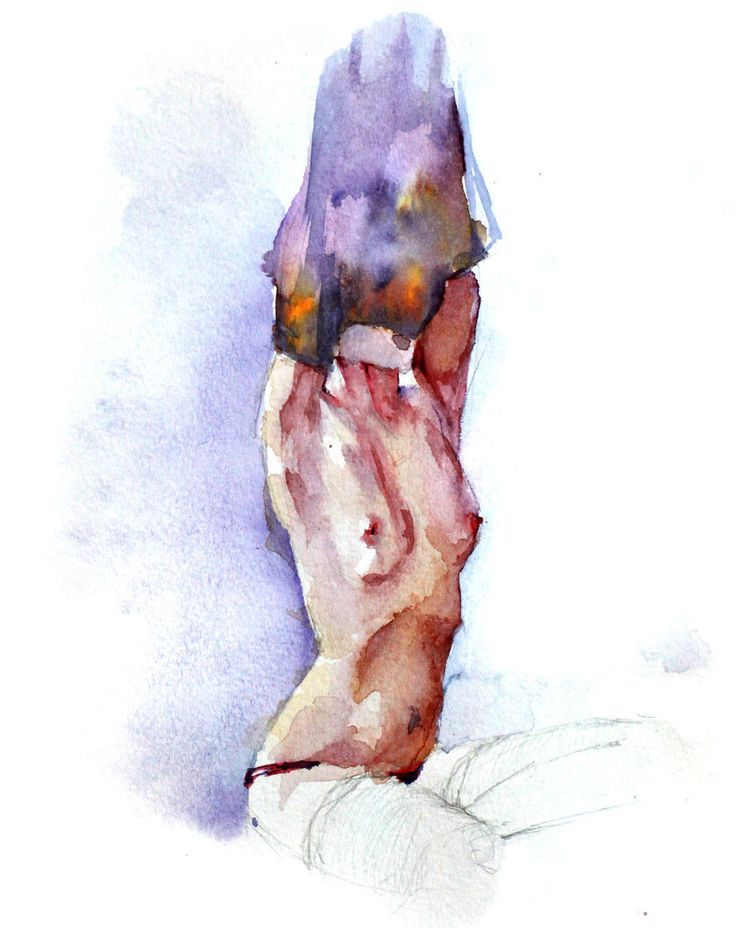 Undressed by allwaterandcolors on Etsy