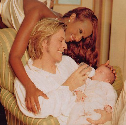 david+bowie+and+iman+daughter+alexandria | Iman and David with their daughter Alexandria Zahra Jones.