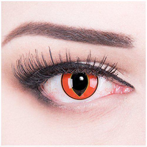 Meralens rote Kontaktlinsen, Mad Frog mit Pflegemittel ohne St�rke, 1er Pack (1 x 2 St�ck)