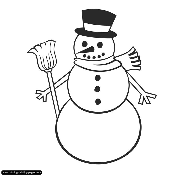 snowman coloring pages - Snowman Coloring Pages