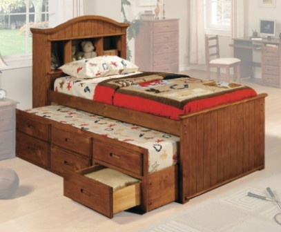 Bella y muy funcional es la cama individual o matrimonial - Camas de 90 con cajones ...